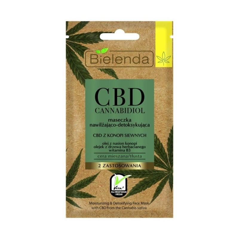 Masque Visage Hydratant & Détoxifiant au CBD 8g Bielenda CBD Cannabidiol